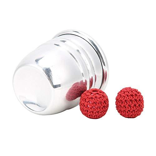 Bola magnética de Apoyo mágico portátil, Taza de Aluminio con Truco de Magia, Plata Completa para Profesionales de la Magia