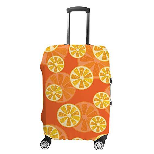 Ruchen - Funda Protectora para Maleta, diseño de Frutas y cítricos, Color Naranja