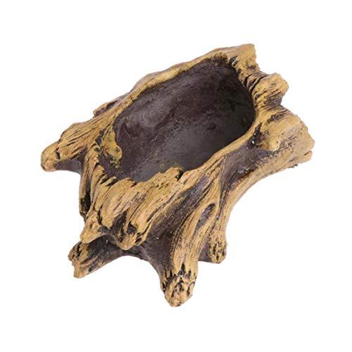 Yililay Vintage Flower Pots Cement Planter Imitation Stump Tree Root Wood Flowerpot for Succulents Flowerpots Bonsai Decor