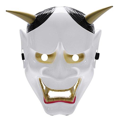 Gowind6 - Máscara japonesa, de PVC, Hannya Noh, de cara completa, estilo cosplay,...