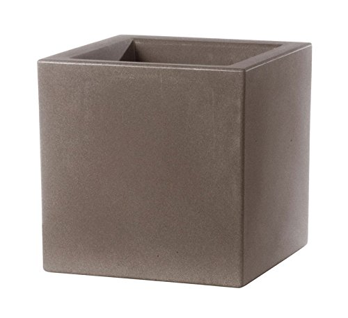 Teraplast Bac a Fleurs Schio Cubo 40 cm Made in Italy recyclable