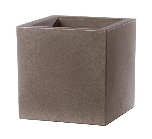 Teraplast vaso Schio Cubo 40 cm Made in Italy riciclabile