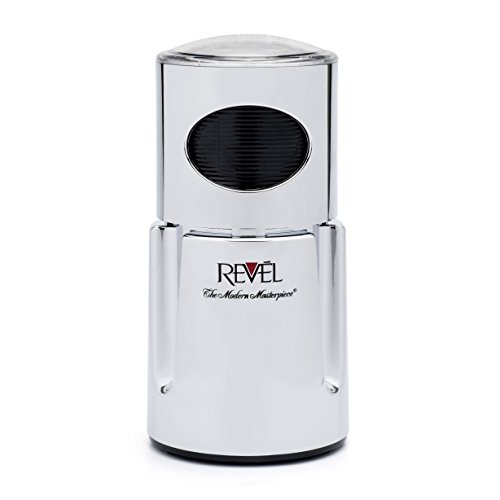 Revel Chrome Wet and Dry Coffee Spice Grinder, 220 Volts (Not for USA-European Cord), 4.5 x 4.5 x 8.5 inch