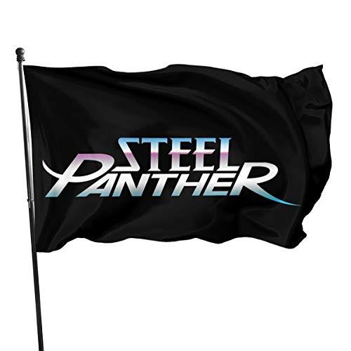 N / A Steel Panther Fahnen Flagge Flag Banner Polyester Material Gartenbalkon Gartendekoration Im Freien 90x150cm