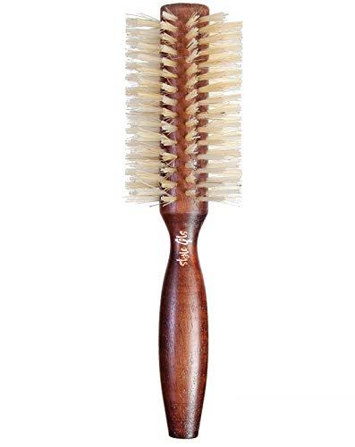 2.0 Inch. Torino. 100% Natural boar bristle. Round hair brush, natural wooden barrel, ergonomic handle.
