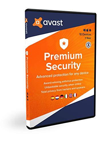 Avast Premium Security | Multi-dispositivo | 10 dispositivi | 1 anno | Box