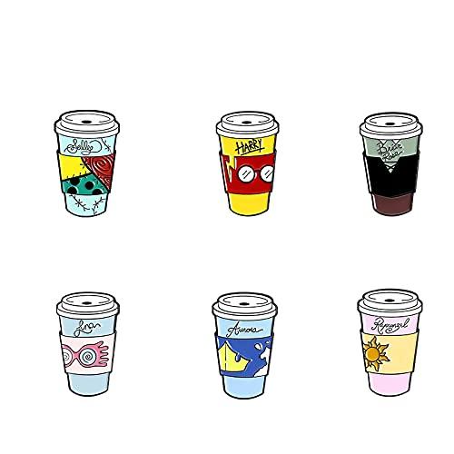 Tazza da viaggio Spille smaltate Bicchieri Tazze da caffè Distintivi Spille Gioielli di fantasia Regalo per i fan