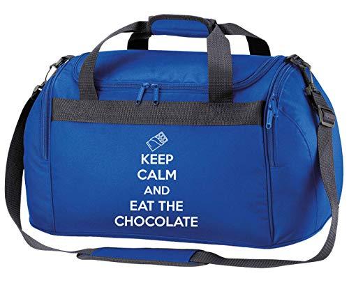 Flox - Borsone creativo con scritta 'Keep Calm and Eat the Chocolate