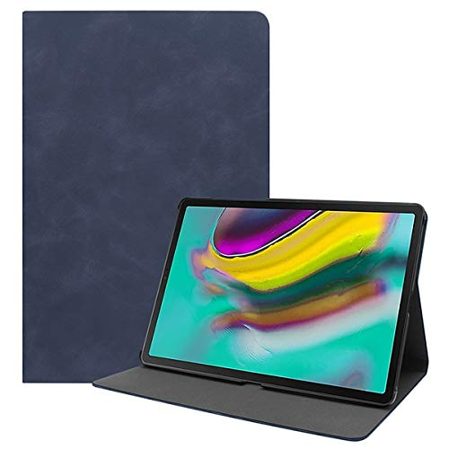 GHC PAD Cases & Covers For Samsung Galaxy Tab S5E SM T720 T725, Ultra Slim Case Stand Magnetic Folding Tablet Cover for Galaxy Tab 10.5 2019 (Color : Dark blue)