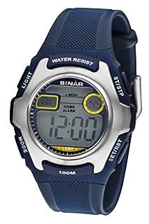 SINAR Jugenduhr Sportuhr Outdoor digital Quarz blau Silber 10 bar wasserdicht Licht XE-50-2 (B004778XYC) | Amazon price tracker / tracking, Amazon price history charts, Amazon price watches, Amazon price drop alerts