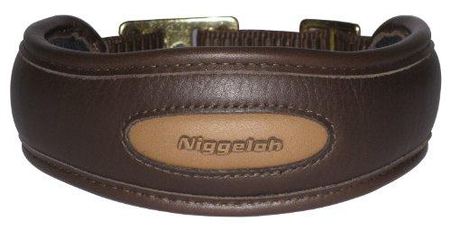 Niggeloh Hundehalsband Premium Halsung, braun, M, 091100033