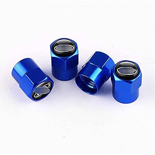 Shj_CN Coche Neumático Aluminio Tapas para válvulas con Logotipo 4 Piezas, para Kia Sportage Rio Sorento Seele Picanto Optima Ceed Forte K5