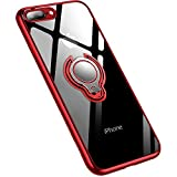 Jaligel iPhone 7 Plus/8 Plus funda con soporte para anillo de 360 grados (trabajar con soporte magnético para coche) silicona TPU funda fina antigolpes protectora