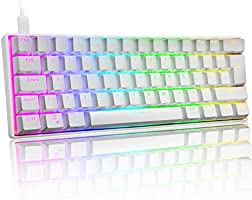 UK Layout 60% Mechanisch Gaming Toetsenbord Type C Bedraad 61 Toetsen LED Backlit USB Waterdicht Toetsenbord 14 Chroma...