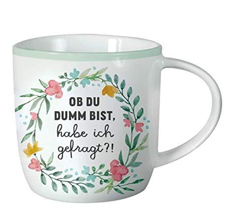 Grafik Werkstatt Taza de café para la oficina | 300 ml | taza de porcelana para regalar | corona de flores