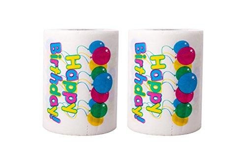 SummitLink 2 Rolls of Happy Birthday Balloon Toilet Paper Tissue Napkin Prank Fun Birthday Party...