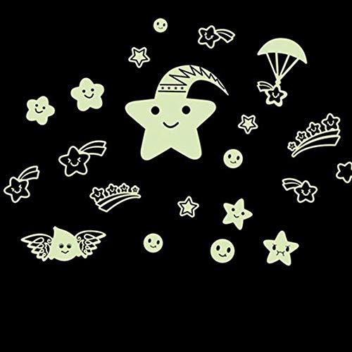WHFDRHQT Muursticker Verwijderbare Muurposter Nacht Hemel Meteor Douche Fluorescentie Slaapbank Decoratie Muursticker Wallpaper Hot Sale A