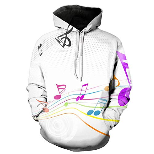 yyqx closed truck Color Jumping Note Hooded Sweatshirt Unisex Realistic 3D Fashion Pullover Hoodie Hooded Sweatshirt-Color_S