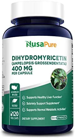 Dihydromyricetin DHM as Hovenia Dulcis Extract 400mg 120 Veggie Capsules No GMO 100 Vegetarian product image