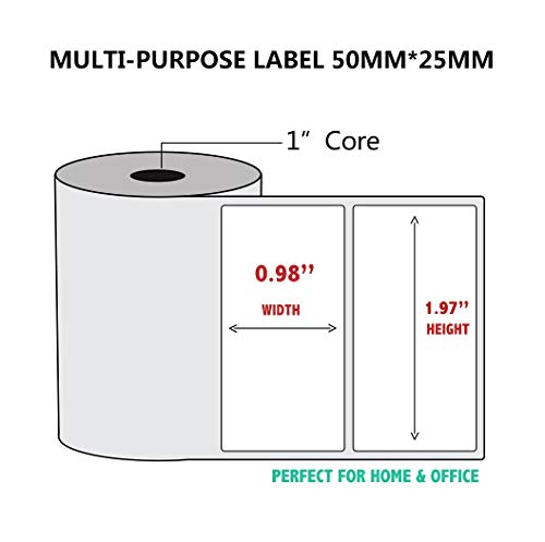 5 Rollen/Lot Thermodruckpapier für Thermodrucker, Barcode-Aufkleber, Etiketten, haftend, Thermo-Typ Multi-Purpose Label 5 Rolls(50x25mm)