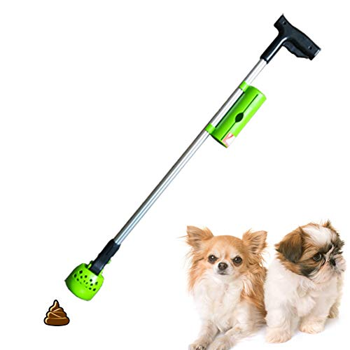 Dog Pooper Scooper, 82Cm Long Handle Walking Poop Remover Grabber Picker for Clean Up Small and Medium Dogs Animal Waste Or Garden Garbage, No Need to Stoop