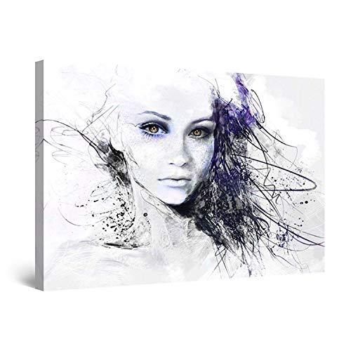 Startonight Bilder Traummädchen, Frauen, Leinwandbilder Moderne Kunst, Abstrakte Wanddeko Kunstdrucke, Wandbilder 60 x 90 cm, Tag Nacht Bild