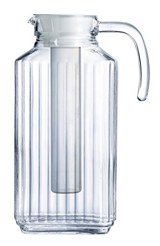 Luminarc Quadro 57.25-Ounce Jug/Pitcher with White Lid