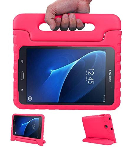 LEADSTAR Kids Case for Samsung Galaxy Tab A 7.0 Shockproof Case Light Weight Super Protection Cover Handle Stand Case for Kids Children for Samsung Galaxy Tab A 7.0-inch SM-T280 SM-T285 (Rose)