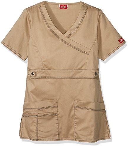 Dickies Mujeres Genflex Youtility falsa abrigo, caqui oscuro, 5X-Large