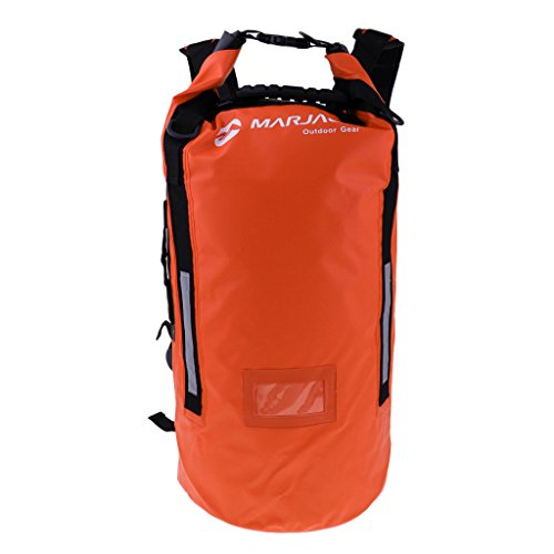 HomeDecTime 40L PVC Waterproof Dry Bag Sack for Canoe Floating Boating Kayaking Camping - Orange