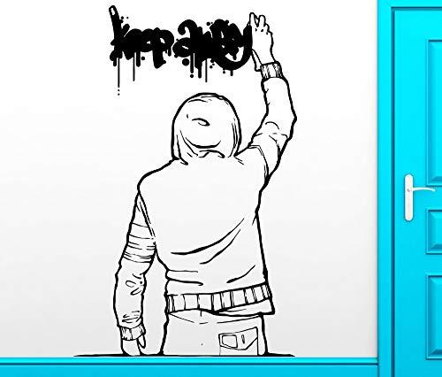 Yaonuli De vinylstickers met muurstickers houden u van de verwijderbare vinyl stickers ver met Urban-decoraties tiener graffiti