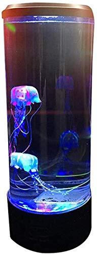Quallen-Lampe LED Fantasy Qualle Lavalampe Fake Aquarium Tank Nachtlicht Farbwechsel Stimmungslichter für Kinder Männer und Frauen