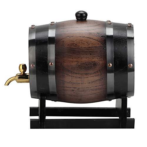 Barriles de vino de crianza en roble, dispensador de cubo de contenedor de vino de barril de madera vintage de 3 litros, para almacenar licores de vino espirituosos whisky cerveza brandy