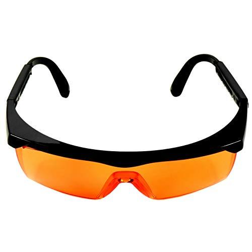 HQRP Lentes de protección UV ligeros de tinte naranja para trabajadores de laboratorio médico, higienistas dentales, cirugía, laboratorio de patología UV Medidor del sol 🔥