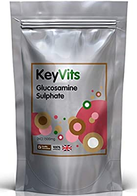 Glucosamine Sulphate 1500 mg 2KCl, 365 Tablets (1 Year Supply), High Strength Glucosamine Tablets 1500mg Free P&P by KeyVits