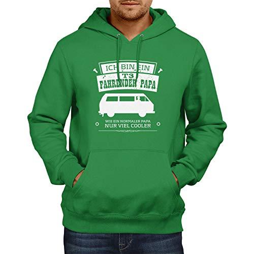 NERDO Ich bin ein T3 Fahrender Papa - Herren Kapuzenpullover, Größe XXL, grün