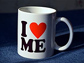 New Modern Family White Ceramic Coffee Tea Cup Mug I Love Me - Love