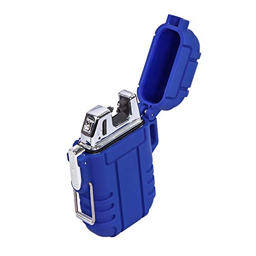 SDS Blue Electric Rechargeable USB Lighter - Dual...