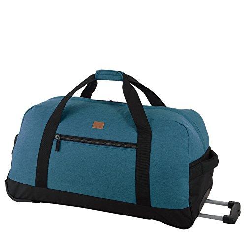 Rada Reisetasche RT 32 L 82 Liter mit Rollen und ausziehbarem Teleskopgestänge, wasserabweisend für Jungen und Mädchen, Reisetasche perfekt für den Urlaub (Maße: 38x75x37cm) (Petrol)