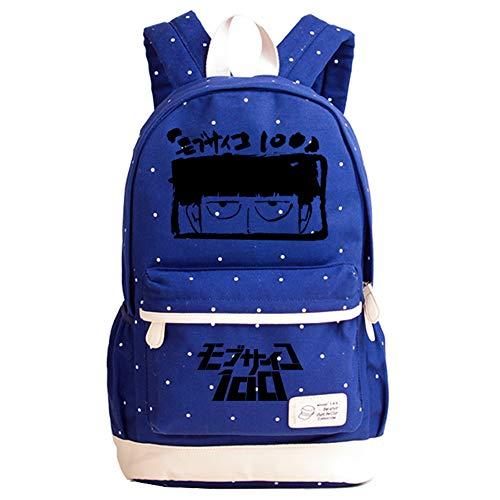 Mob Psycho 100 Freizeitrucksack Mädchen Anime Printing Rucksack Casual Student Daypack Cute Style Schultasche Unisex (Color : Blue05, Size : 44 X 27 X 13cm)