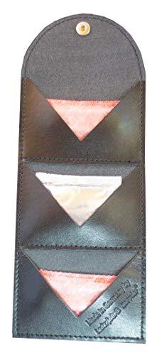 Kondometui (schwarz) aus Leder für 3 Kondome