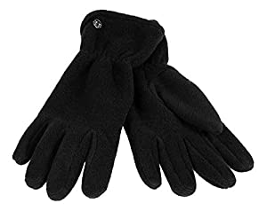LOEVENICH Fleece Fingerhandschuh, Damen Wintermode Outdoor Farbe: black