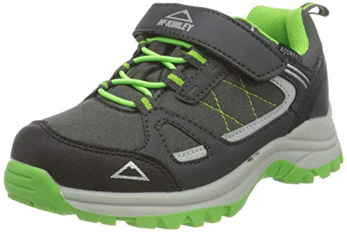 McKINLEY Aquabase Maine Wanderschuhe, Grey Dark/Green LIM, 35 EU