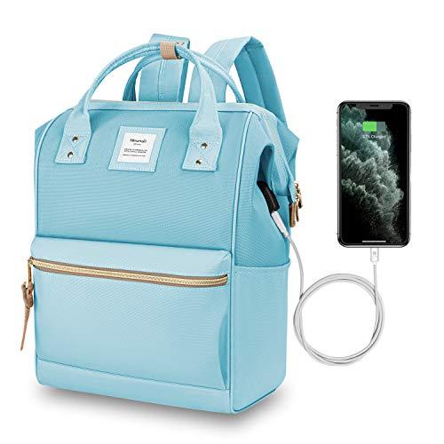 Hethrone Zaino Donna Scuola Porta PC 15.6 Pollici per UniversitÃ, Viaggio, Lavoro, Stile Casual con USB
