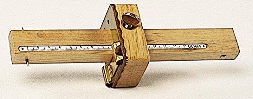 Ulmia Messwerkzeug (Streichmaß) - Präzisionswerkzeug, dient zum Anreißen gekrümmter Flächen, 2 hochpräzise und leicht verstellbare Anreißstäbe mit eingelegter Maßskala, mit Kurvenanschlag - 0029K
