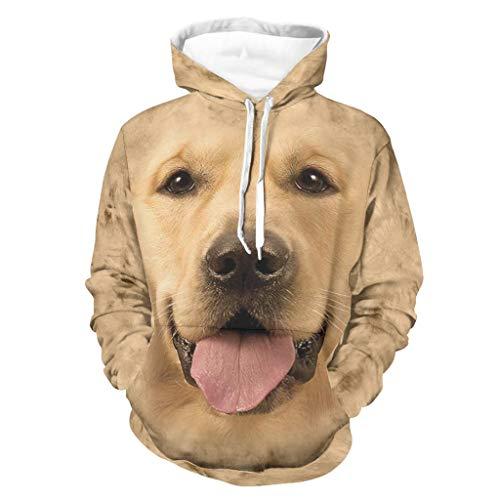 Sudadera para hombre y mascota, diseño de labrador personalizable, color negro