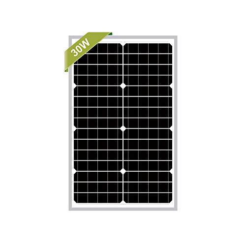 Newpowa 30w Watts 12v Monocrystalline Solar Panel Module Rv Marine Boat Off Grid