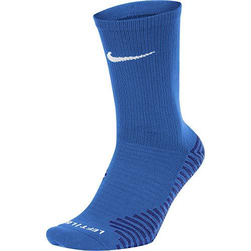 Nike Squad Crew Calzini, Blu Royal/Bianco, XL (Pacco da 2) Uomo
