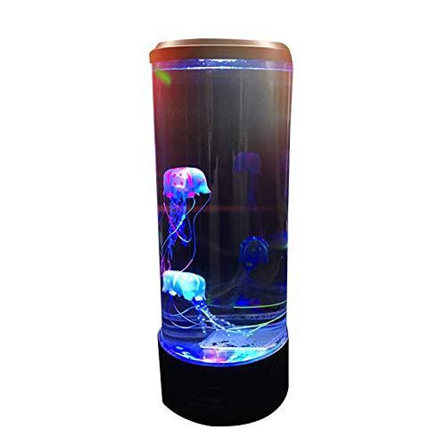Jellyfish Lamp Fish Lamp with Color Changing Light Effects, Jellyfish Aquarium Lamp Fantasy Moving Jelly Fish Lava Lamps LED Mood Light for Life Home Kids Room Decoration. Ideal Gift