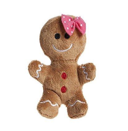 christmasshop 10cm Peluche Peluche Uomo Soft Toy con Arco Rosa - Natale Soft Toys - Decorazioni Natalizie